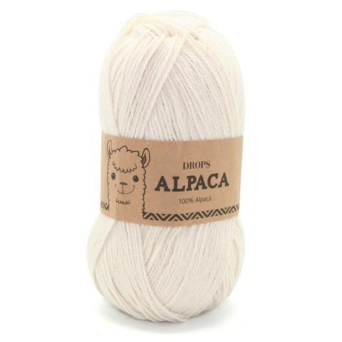 Пряжа Drops Alpaca 0100 молочный