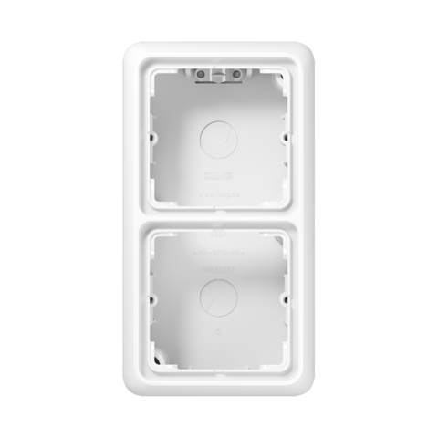 Накладная коробка на 2 поста. Цвет Белый. JUNG CD Накладные коробки. CD582AWW