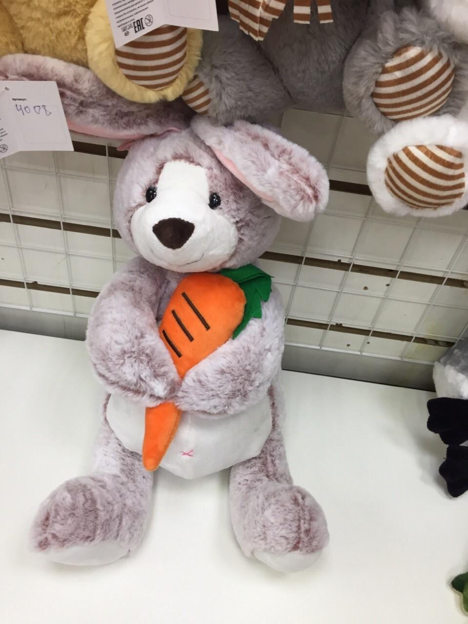 Зайцы с морковками в разных расцветках(поштучно)
