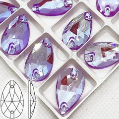 Стразы неоновые купить оптом Neon Violet AB, Drope в интернет-магазине