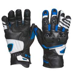 Мотоперчатки кожа Sweep Forza, чёрный/синий