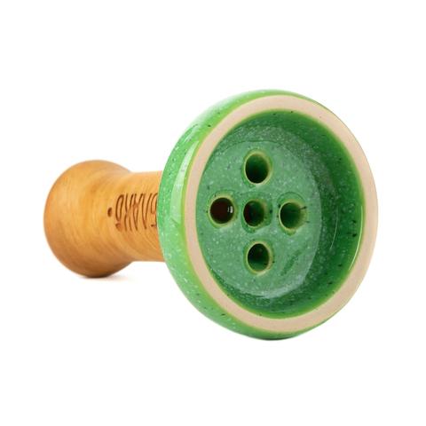 Чаша Облако Black Glaze (Зеленый в точку)