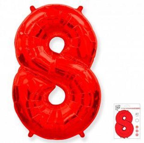 Цифра восемь- красная