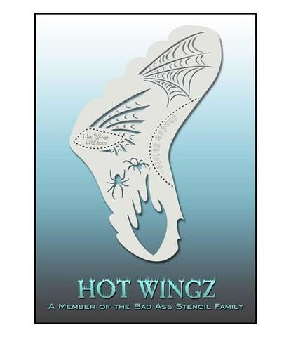 Трафарет Hot wings 8003