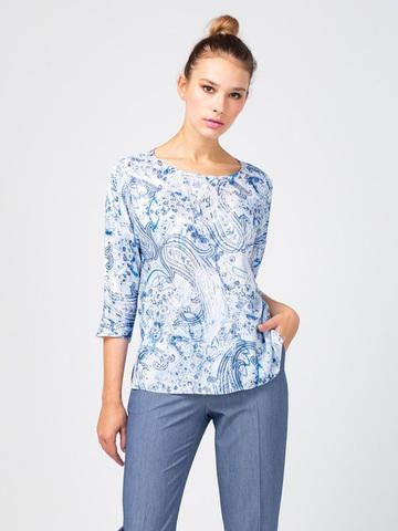 Фото блуза с рукавом 3/4 с фантазийным принтом - Блуза Г661-528 (1)