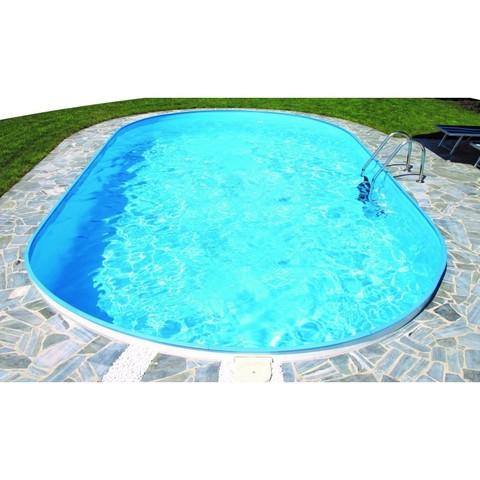 Каркасный овальный бассейн Summer Fun 7.37м х 3.6м, глубина 1.5м, морозоустойчивый 4501010259KB