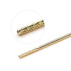 Фреза твердосплавная кукуруза, золото, D=2 мм