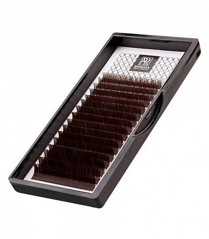 Тёмно-коричневые ресницы BARBARA (C 0.07 13mm)