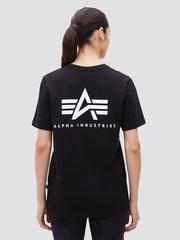 Футболка Alpha Industries Small Logo Black Женская (Черная)