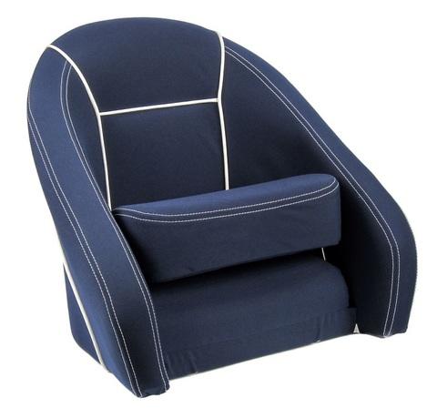 Кресло ROMEO мягкое, на подставке, ткань Markilux, темно-синее