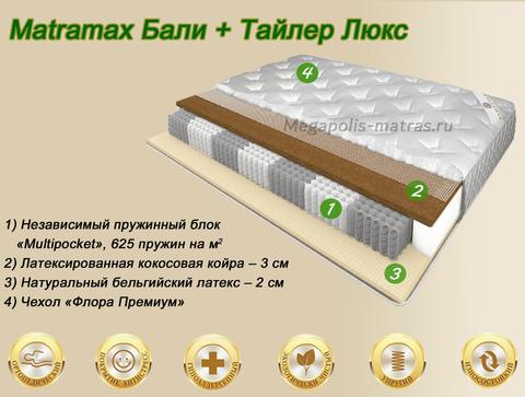 Матрас Матрамакс Бали + Тайлер Люкс купить в Москве от Megapolis-matras.ru