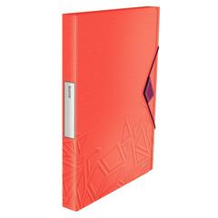 Папка на резинке Leitz UrbanChic A4 пластиковая красная (0.7, до 160 листов)
