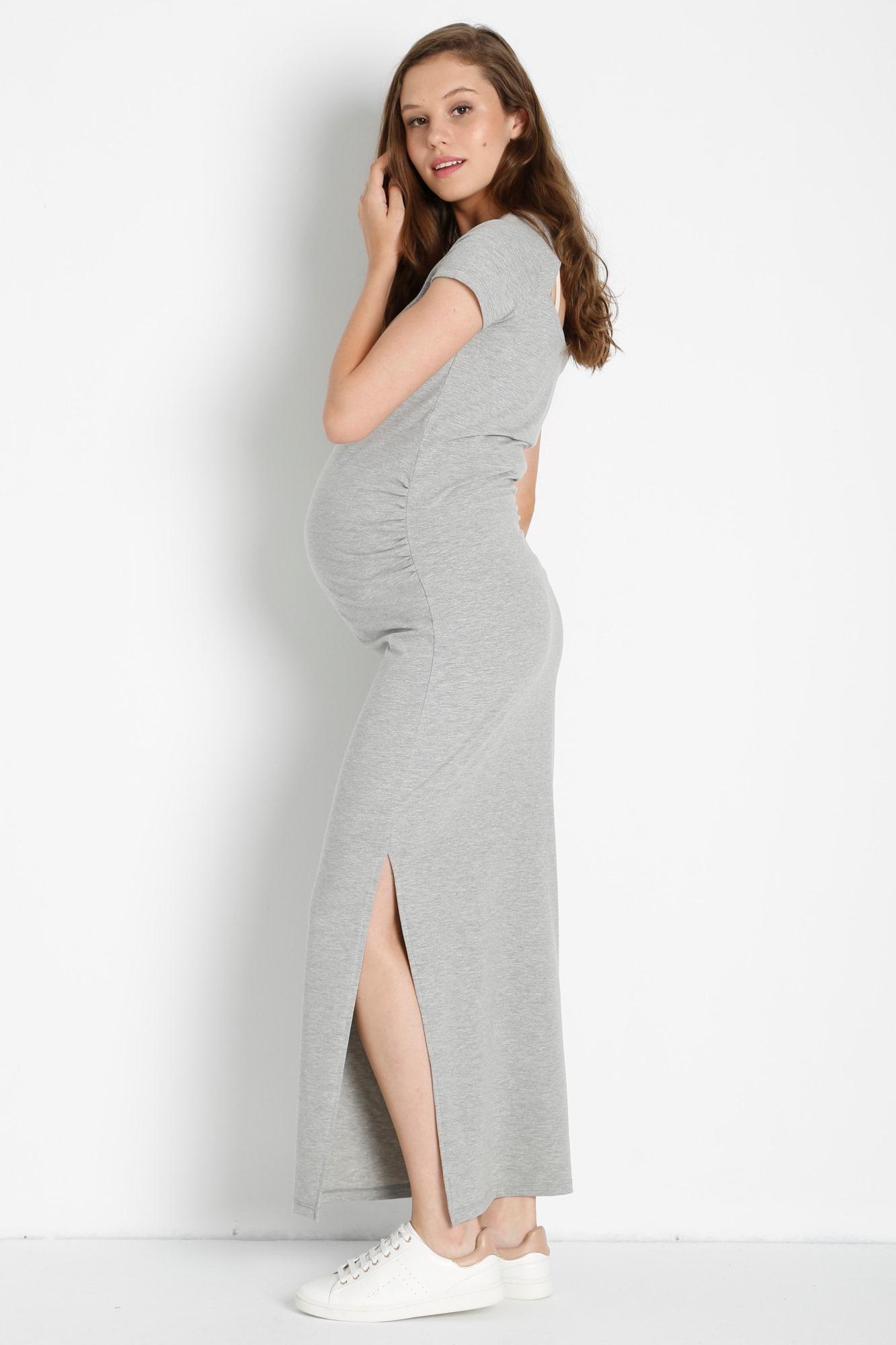 Платье для беременных 08464 серый
