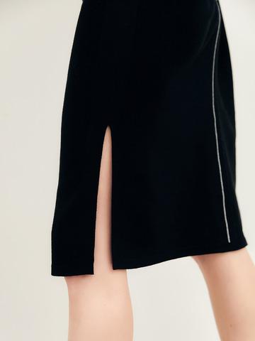 Женское платье черного цвета из вискозы - фото 3