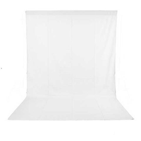 Белый нетканный фотофон 3х6 м NiceFoto NWB-36