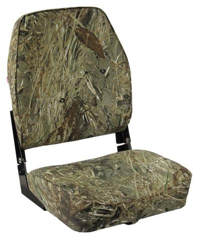 Сиденье мягкое складное ECONOMY с высокой спинкой, камуфляж
