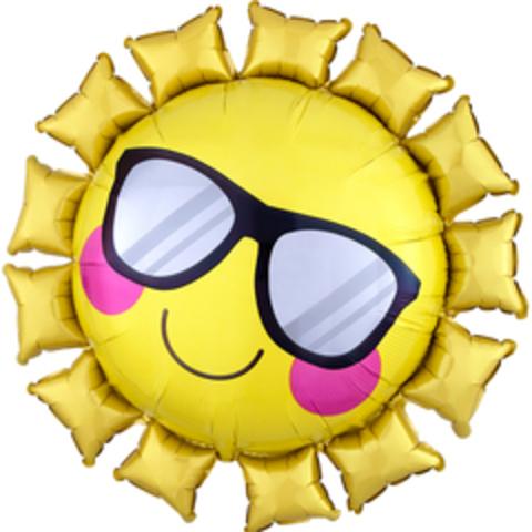 К 31''/79 см Фигура, Солнце в солнечных очках, Желтый, 1 шт.