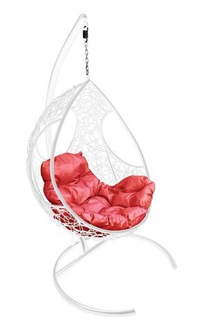 Кресло подвесное Ferrol white/red