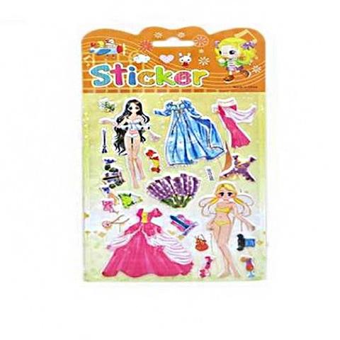 Набор наклеек для девочек SD-040 (20) Гардероб маленькой принцессы в пак., 1кор*1бл*10шт