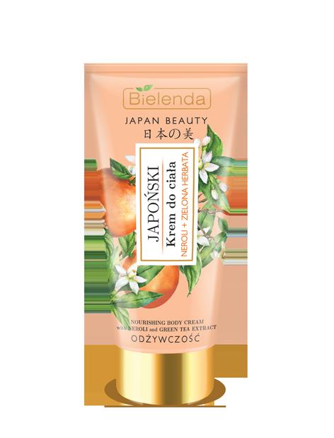JAPAN BEAUTY Японский крем для тела, Масло нероли + Зеленый чай, 200 мл