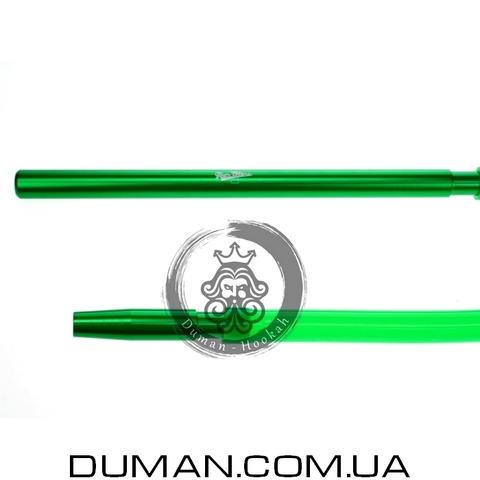 Комплект силиконовый шланг Soft-touch и алюминиевый мундштук AMY для кальяна |Green
