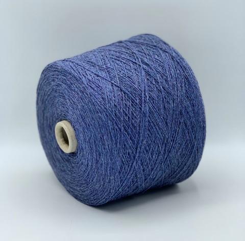 Бобинная пряжа (пр.Италия),art.Filar wool 475м/100гр,85%шерсть 15%ПА, цвет-светлый неоднотонный джинс. арт.6203