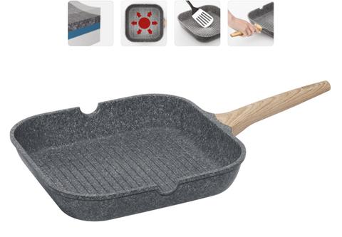 Сковорода-гриль с антипригарным покрытием Mineralica, 28х28 см NADOBA