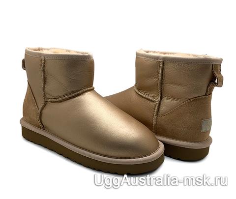 UGG CLASSIC MINI METALLIC SOFT GOLD
