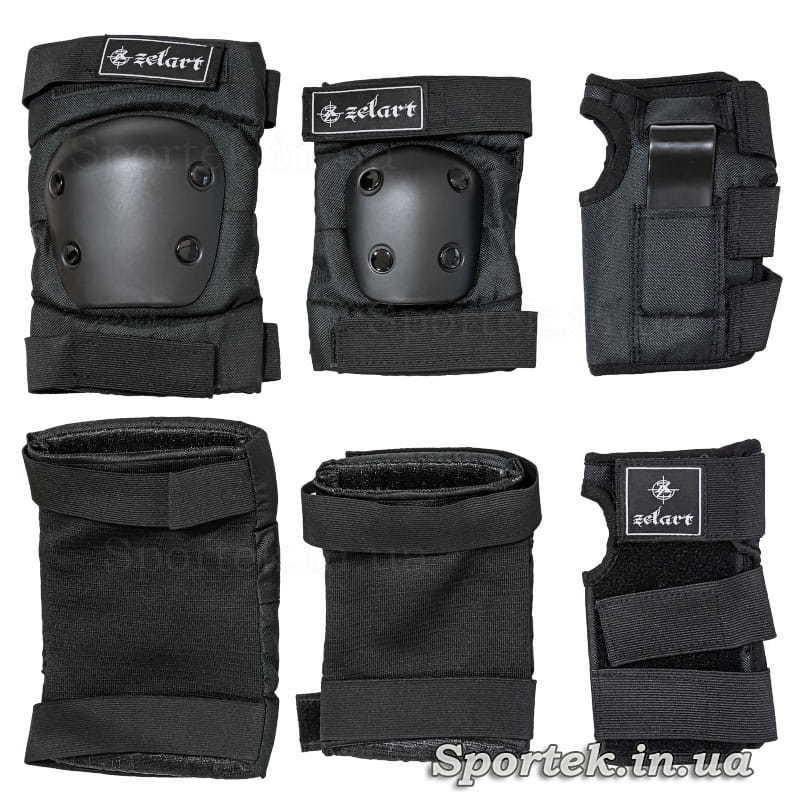Захист для суглобів (чорного кольору) при катанні на роликах, скейтбордах