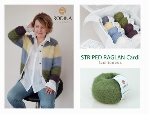 STRIPED RAGLAN Cardi Fashionbox