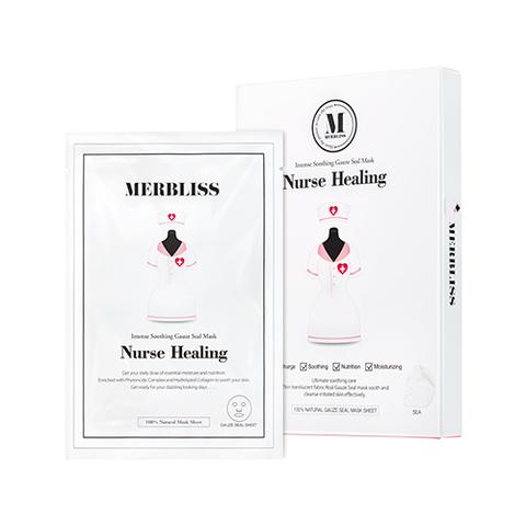 [Merbliss] Nurse Healing Gauze Seal Mask 5pcs