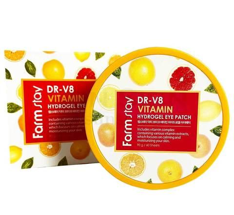 FarmStay Патчи с комплексом витаминов Hydrogel Eye Patch Dr-V8 Vitamin