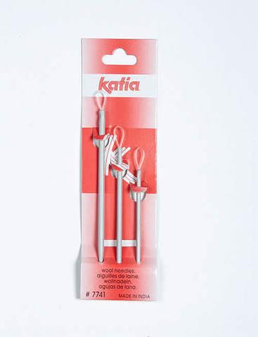 Katia Иглы ручные для шитья шерстью и пряжей, 3 шт