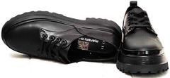 Женские кожаные туфли на низком каблуке типа dr martens туфли Marani magli M-237-06-18 Black.