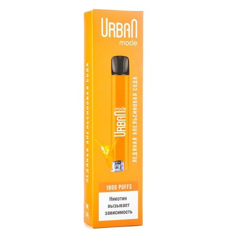 Одноразовая электронная сигарета Urban Mode Ice Orange Soda (Ледяная Апельсиновая Сода)
