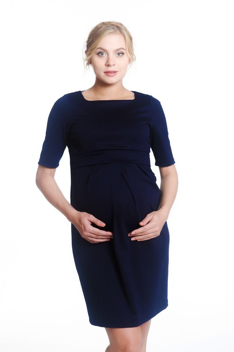 Платье для беременных 07983 синий