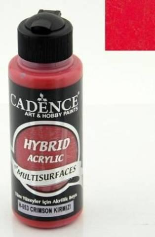 №53 Hybrid Acrylic, Малиново-красный, 70мл., Cadence