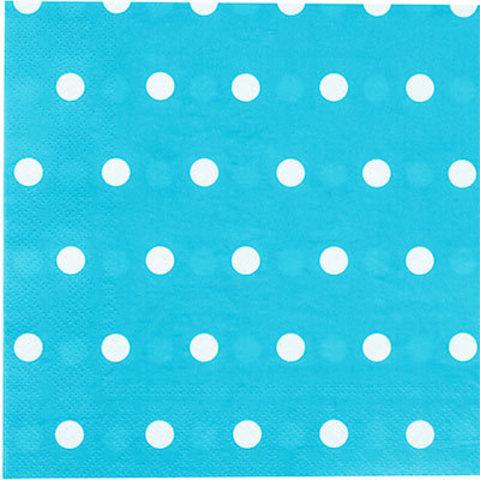 1502-3936 Салфетки Горошек голубые 33см, 12шт
