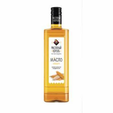 Кукурузное масло 100% Масляный король, 0.35 л, стекло