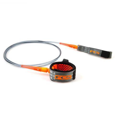 FCS 6' All Round Essential Leash Charcoal/Blood Orange