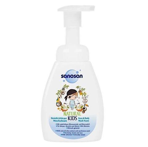 Sanosan. Пенка для лица и тела для мальчиков, 250 мл