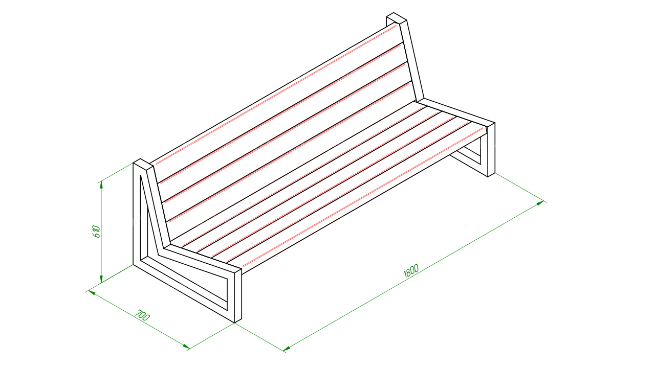 Скамейка диван SCAM0062