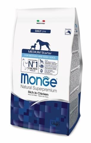 купить Monge Dog Medium Starter for mother and baby корм для щенков средних пород 1,5 кг