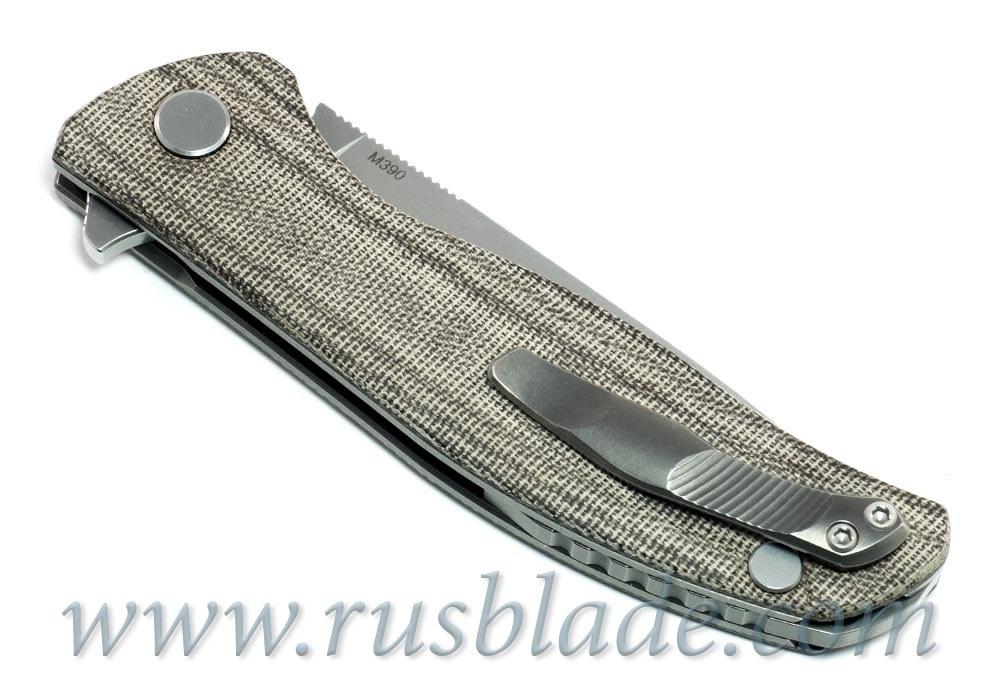 Shirogorov F3 M390 Micarta 3D Rolling - фотография