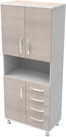 Шкаф медицинский общего назначения 2.02 тип 2 АйВуд Medical Office - фото