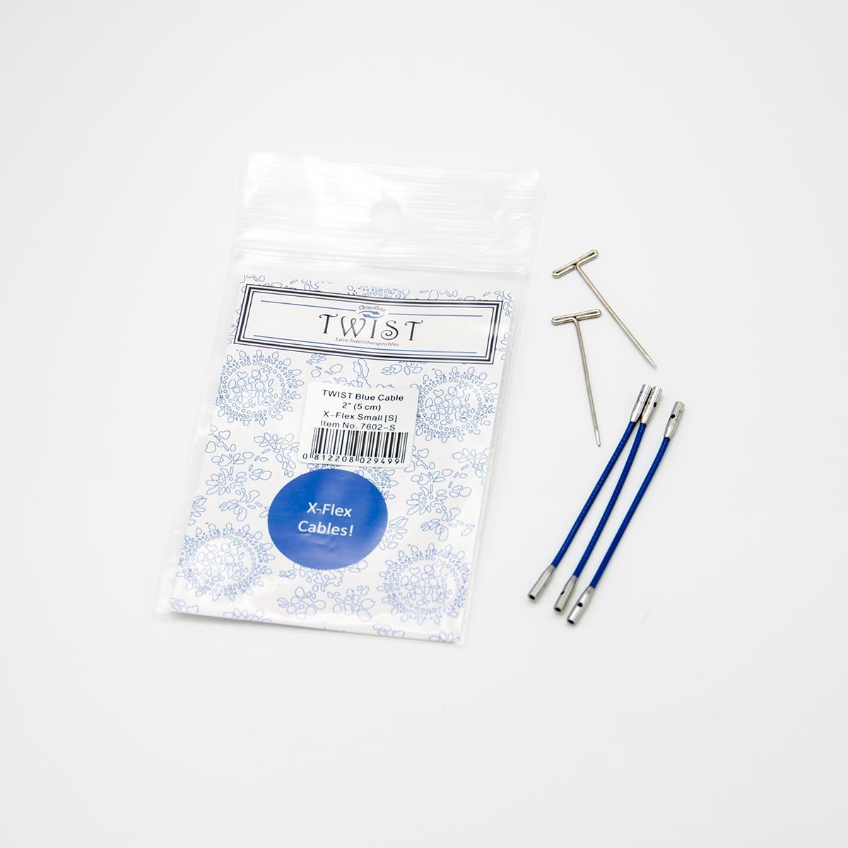 Леска Twist x-flex blue cable 5см, ChiaoGoo
