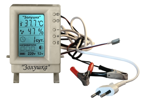 Контроллер-терморегулятор с ЖК-экраном 220/12 вольт