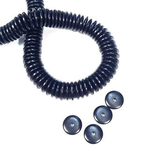 Бусина из Кокоса рондель 10х2 мм цвет чёрный 1 бусина