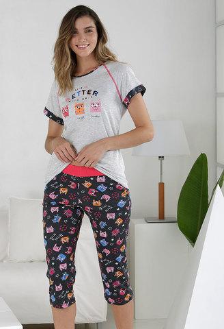 Пижама женская с бриджами Massana MP_211211 3XL