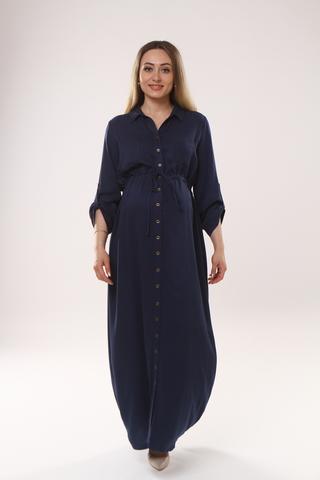 Платье для беременных 09450 индиго